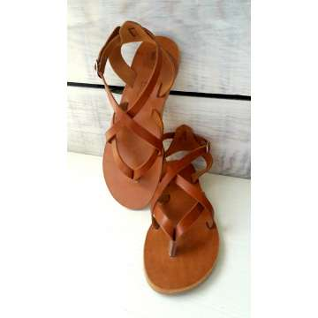 Handmade Greek leather sandals