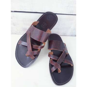 Handmade Greek leader sandals